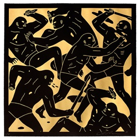 Masters Of War (Gold) by Cleon Peterson
