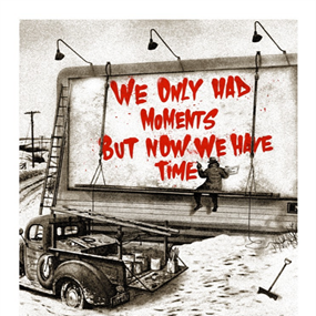 Now Is The Time (Red) by Mr Brainwash