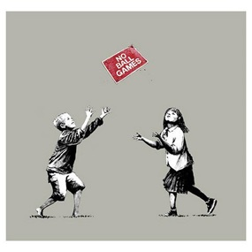 No Ball Games (Grey) by Banksy