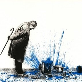 Glitch (Blue) by Mr Brainwash