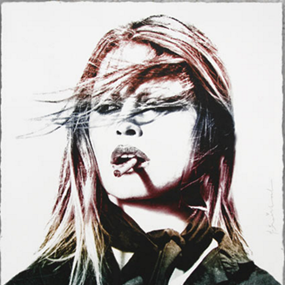 Brigitte Bardot (Red Lips) by Mr Brainwash