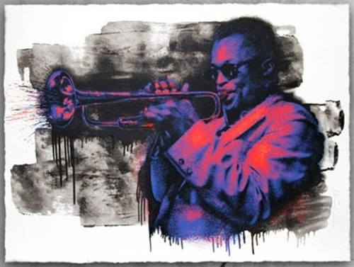 Miles Davis (Purple / Orange) by Mr Brainwash