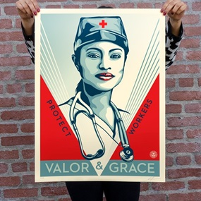 Valor & Grace Nurse by Shepard Fairey