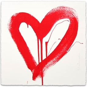 Love HeART (Red) by Mr Brainwash