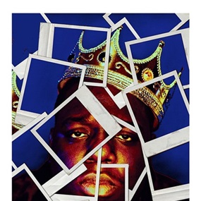 We Miss You B.I.G. (Blue) by Mr Brainwash