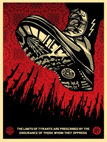 Tyrant Boot by Shepard Fairey Editioned artwork | Art Collectorz