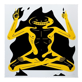 Burnout (White) by Cleon Peterson