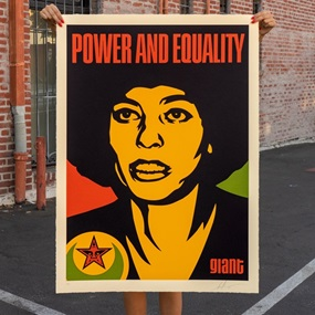 Angela Nubian (Large Format) by Shepard Fairey