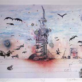 Dystopia With A Glimmer Of Hope by Mars 1 | Ralph Steadman