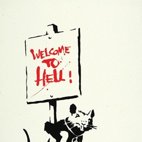Welcome To Hell (Unsigned) by Banksy