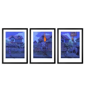 Midnight Walk Triptych by Bezt