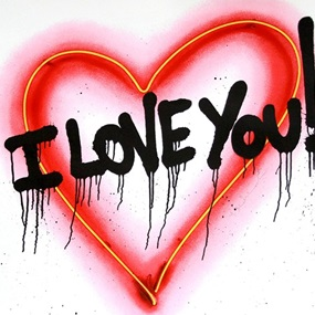 Speak From The Heart - I Love You! by Mr Brainwash