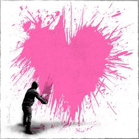 Secret Admirer (Pink) by Mr Brainwash