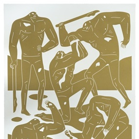 Mercenaries (Gold) by Cleon Peterson