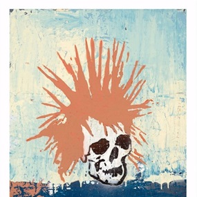Red Punk Rock Skull by Tim Armstrong