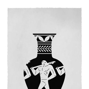 End Of Empire, Lekythos (White) by Cleon Peterson