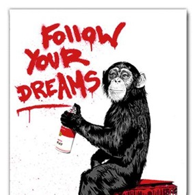 Everyday Life (Red) by Mr Brainwash