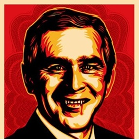 One Hell Of A Leader (Bush Hell) by Shepard Fairey