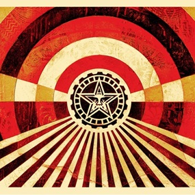 Tunnel Vision (Gold) by Shepard Fairey
