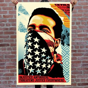 American Rage (Offset Lithograph) by Shepard Fairey