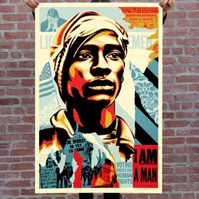 Voting Rights Are Human Rights (Offset Lithograph) by Shepard Fairey