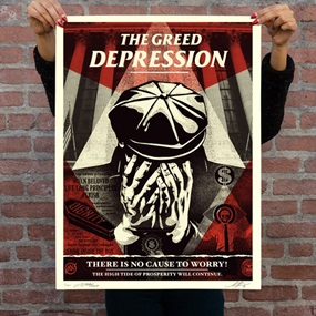 The Greed Depression by Shepard Fairey | NoNAME
