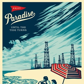 Paradise Turns by Shepard Fairey