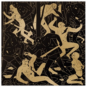 Judgement (Black & Gold) by Cleon Peterson