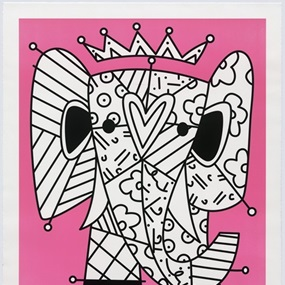 The Pink Elephant by Romero Britto