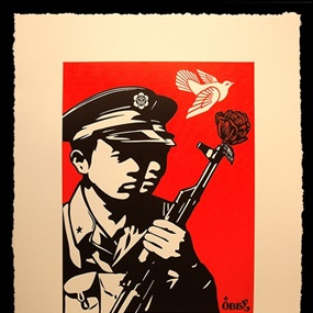 Chinese Soldiers (Letterpress) by Shepard Fairey