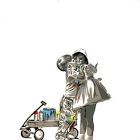 Kids Kissing by Mr Brainwash