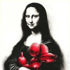 Rescue (Red) by Mr Brainwash