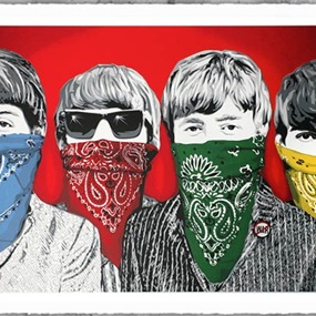Beatles Bandidos (Red) by Mr Brainwash