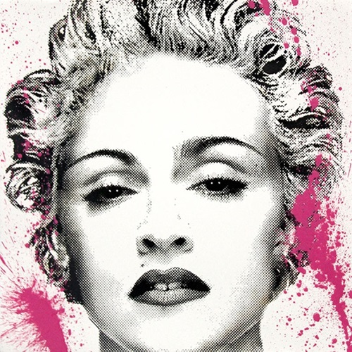 Happy B-Day Madonna (Pink) by Mr Brainwash