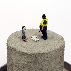 SLAUGHTER OF THE INNOCENTS: Yo Pig! You Killed Our Pup You Fat Fuck! by James Cauty