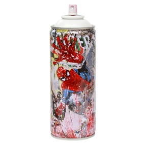 Spider-Man - Metal Spray Can (White) by Mr Brainwash