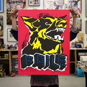 Faile Dog (Black Light) by Faile