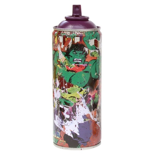 Hulk - Metal Spray Can (Purple) by Mr Brainwash