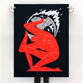 World On Fire (Large Format - Black) by Cleon Peterson