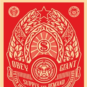 Supply And Demand (Red) by Shepard Fairey