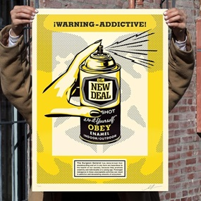 Warning Addictive by Shepard Fairey