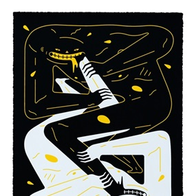 Power (Black and Yellow) by Cleon Peterson