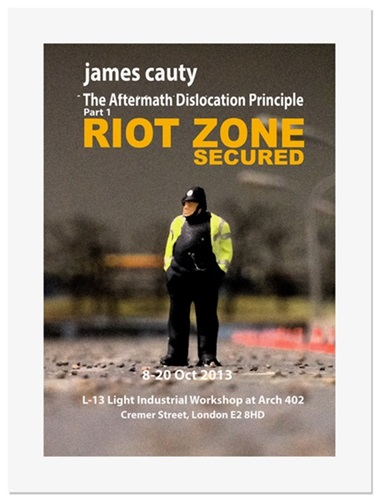 ADP Promo Preview Print 13 - Riot Zone  by James Cauty
