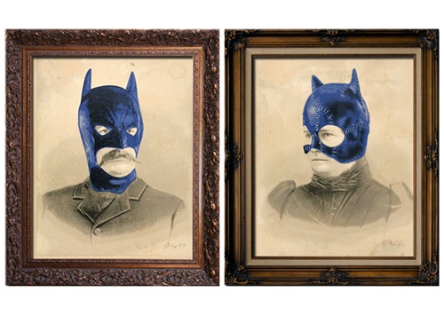 Bat Papi & Cat Nana  by Mr Brainwash