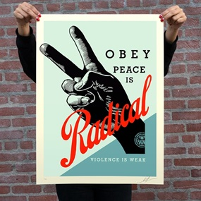 Obey Radical Peace (Blue) by Shepard Fairey