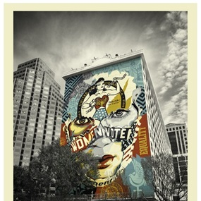 The Beauty Of Liberty And Equality (Austin Mural Version) by Shepard Fairey | Sandra Chevrier