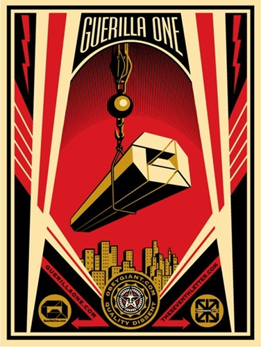 Guerilla One x The Seventh Letter Collaboration Print  by Shepard Fairey
