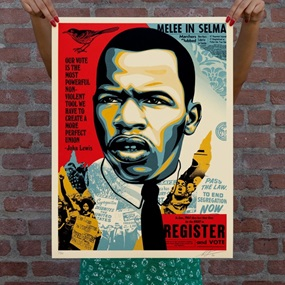John Lewis - Good Trouble by Shepard Fairey