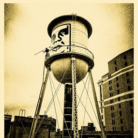 Covert To Overt - Icon Water Tower (Gold Edition) by Shepard Fairey