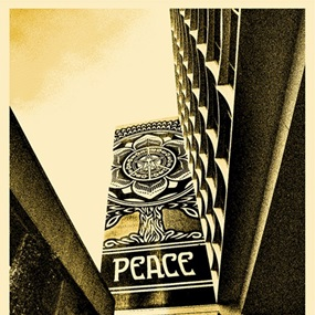 Covert To Overt - Peace Tree (Gold Edition) by Shepard Fairey
